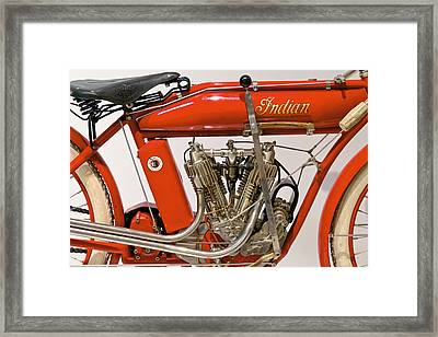 Bike - Motorcycle - Indian Motorcycle Engine Framed Print by Mike Savad