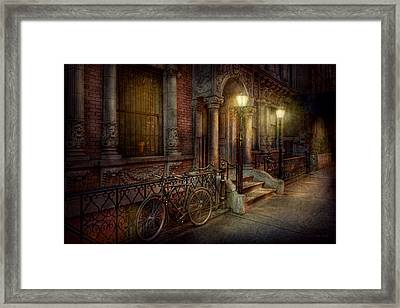 Bike - Ny - Greenwich Village - In The Village  Framed Print