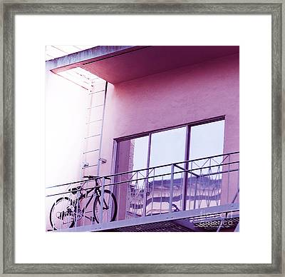 Bike On My Balcony Framed Print by Artist and Photographer Laura Wrede
