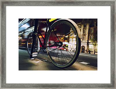 Bike On Whitehall Street Framed Print by Joseph S Giacalone