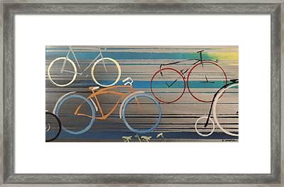 Bike Path I Framed Print by Vivian Mora