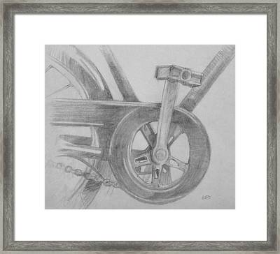 Bike Pedal Framed Print