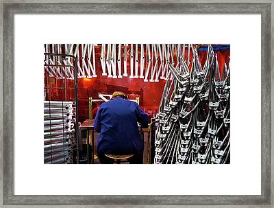Bike Production Framed Print by Patrick Landmann