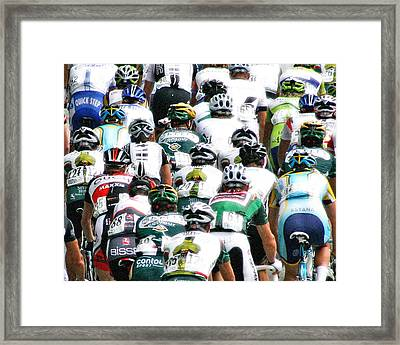 Framed Print featuring the photograph Bike Race Image by Christopher McKenzie