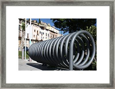 Bike Rack Framed Print by Farol Tomson