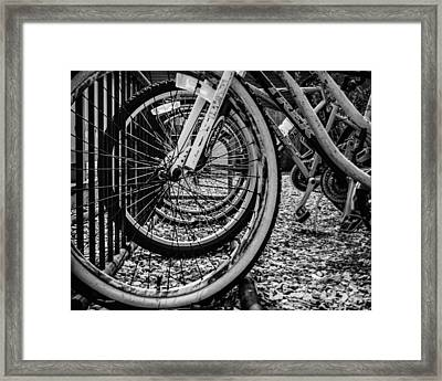 Bike Rack Framed Print by Steve Stanger