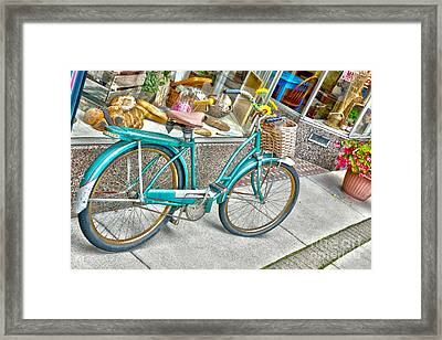 Bike Ride To The Bake House Framed Print by John Debar