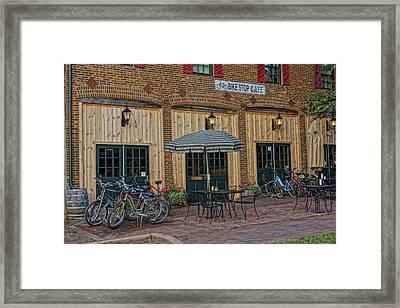 Bike Shop Cafe Katty Trail St Charles Mo Dsc00860 Framed Print by Greg Kluempers