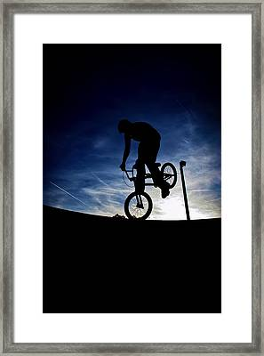 Bike Silhouette Framed Print by Joel Loftus