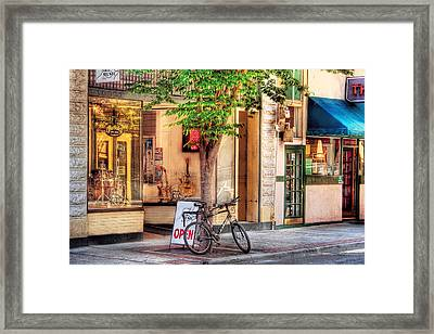 Bike - The Music Store Framed Print by Mike Savad