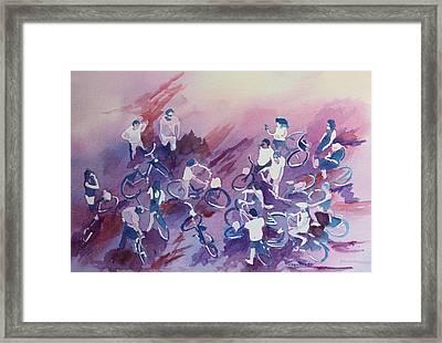 Bike Tour Framed Print by Jenny Armitage