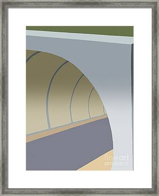 Bike Tunnel Framed Print by Henry Manning