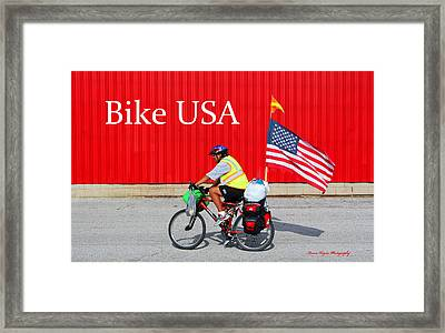 Bike Usa Framed Print