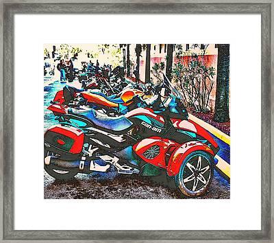 Bike Week Daytona Framed Print by Irma BACKELANT GALLERIES