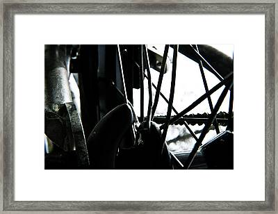Bike Wheel Framed Print by Joel Loftus