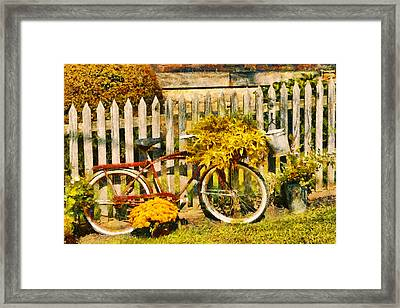 Bike - Zoar Oh - The Ride Is Never Over Framed Print by Mike Savad