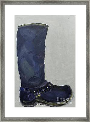 Biker Boot Framed Print