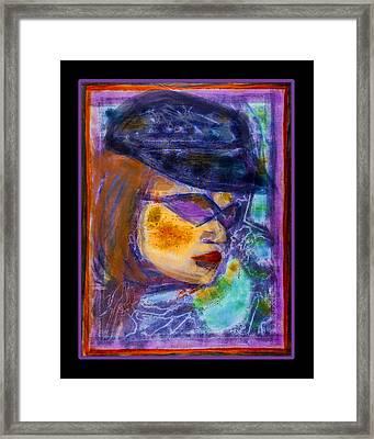 Biker Chick Framed Print