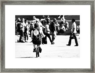 Biker Framed Print by Elias Khattar