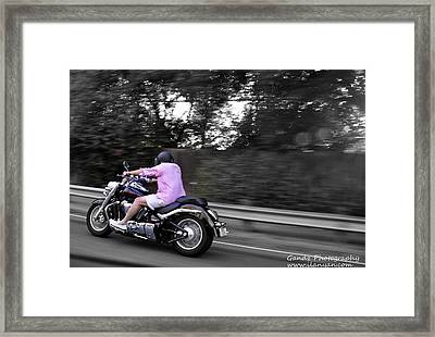 Biker Framed Print by Gandz Photography