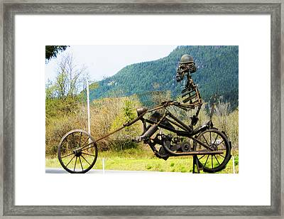 Biker Framed Print by Ron Roberts
