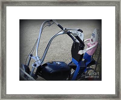 Bikers Framed Print by Linda Galok