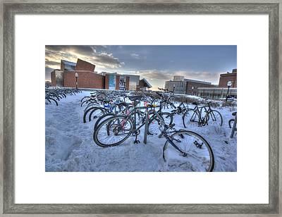 Bikes At University Of Minnesota  Framed Print