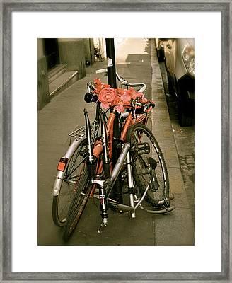 Bikes In Italy Framed Print