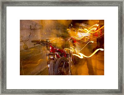 Bikes In San Miguel Framed Print by Cathy Anderson