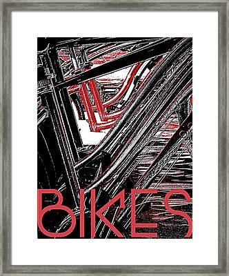 Bikes Poster -- A Framed Print by Brian D Meredith