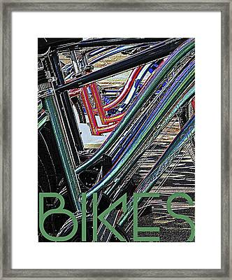 Bikes Poster -- B Framed Print by Brian D Meredith