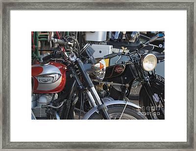 Old Motorbikes Framed Print