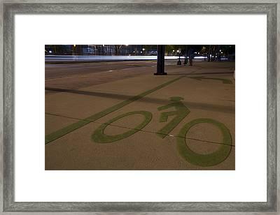 Bikes Versus Cars Framed Print by Lisa Marie Pane