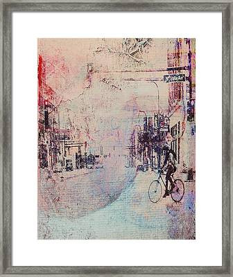 Biking In The City Framed Print by Susan Stone