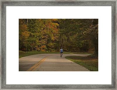 Biking In The Smoky Mountains Framed Print