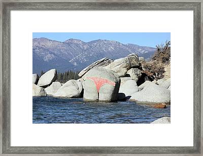 Bikini Rock Framed Print by Mickey Hatt