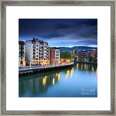 Framed Print featuring the photograph Bilbao 2 by Mariusz Czajkowski
