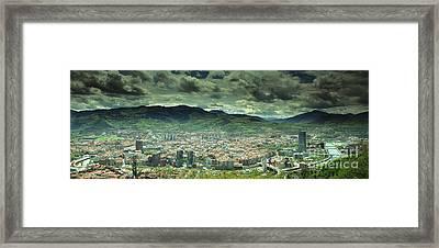 Framed Print featuring the photograph Bilbao Panoramic  by Mariusz Czajkowski