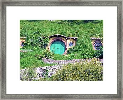 Bilbo Baggins Front Door Framed Print by C H Apperson