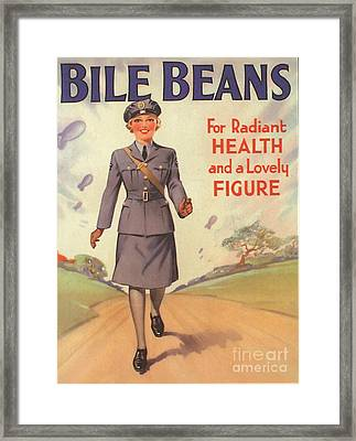 Bile Beans 1940s Uk Uniforms  Ww2 Framed Print