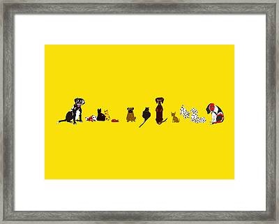 Bill And Friends Framed Print