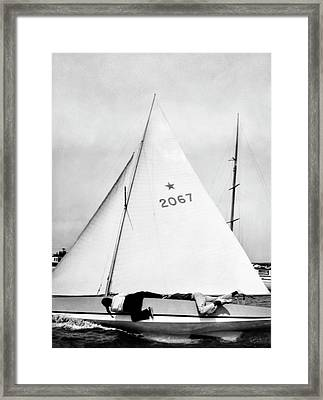 Bill And Sue Fricker Sailing Framed Print