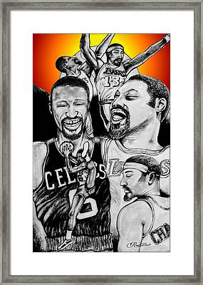 Bill And Wilt Framed Print by Vernon Rowlette