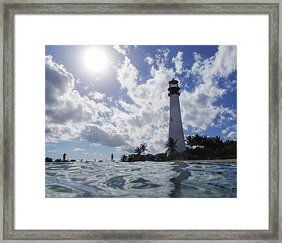 Bill Baggs Lighthouse On Key Biscayne Framed Print by Toby McGuire