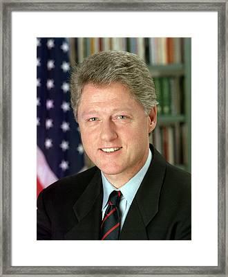 Bill Clinton Framed Print by Georgia Fowler