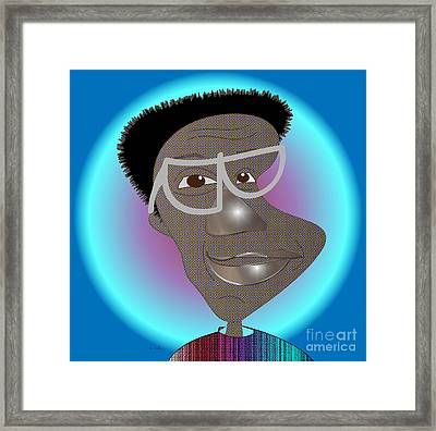 Bill Cosby Framed Print by Iris Gelbart