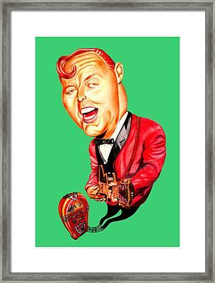 Bill Haley Framed Print by Diego Abelenda