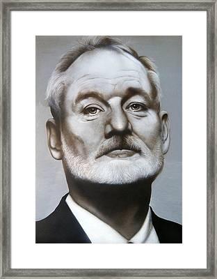 Bill Murray Framed Print by Grant Kosh
