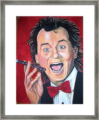 Bill Murray Framed Print by Linda Vaughon