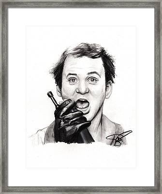 Bill Murray Framed Print by Rosalinda Markle